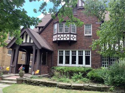 Detroit Single Family Home For Sale: 2314 Longfellow Street