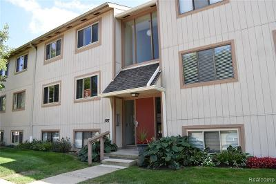 Rochester Hills Condo/Townhouse For Sale: 1687 Riverside Drive