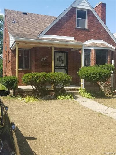 Detroit Single Family Home For Sale: 16511 Whitcomb Street