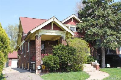 Detroit Single Family Home For Sale: 444 Chalmers Street