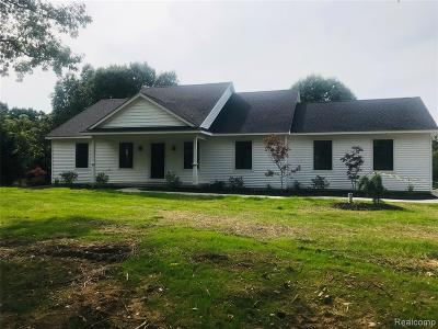 Single Family Home For Sale: 4320 Brown Road