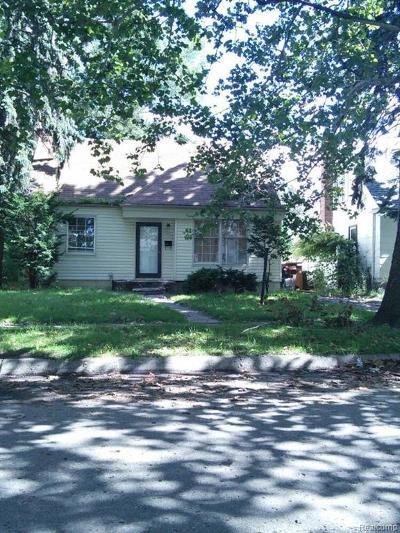 Detroit Single Family Home For Sale: 19504 Montrose Street