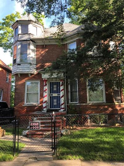 Detroit Single Family Home For Sale: 333 Woodland Street