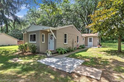 Oakland County Single Family Home For Sale: 5187 Lake Grove Drive
