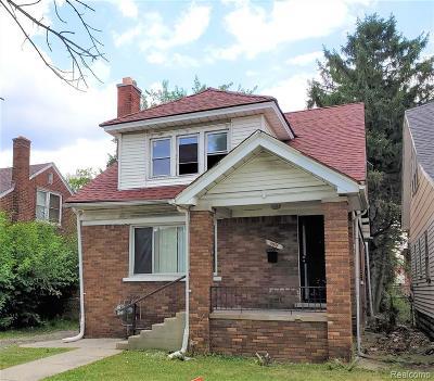 Detroit Single Family Home For Sale: 11414 Hartwell Street