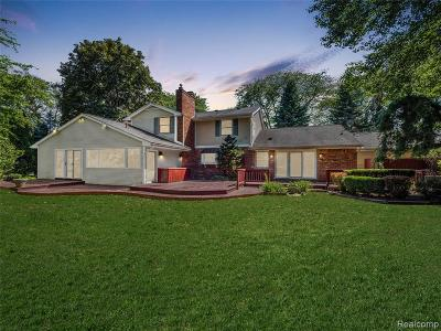 Bloomfield Twp Single Family Home For Sale: 3837 Top View Court