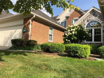 Northville Condo/Townhouse For Sale: 39497 Village Run Drive