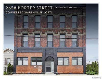 Detroit Condo/Townhouse For Sale: 2658 Porter Street