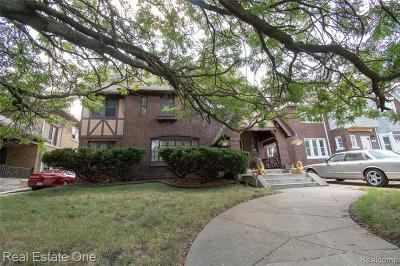 Detroit Single Family Home For Sale: 2505 Chicago Boulevard