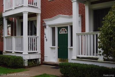 Birmingham Condo/Townhouse For Sale: 449 N Eton Street