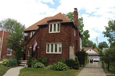 Detroit Single Family Home For Sale: 16824 Westmoreland Road