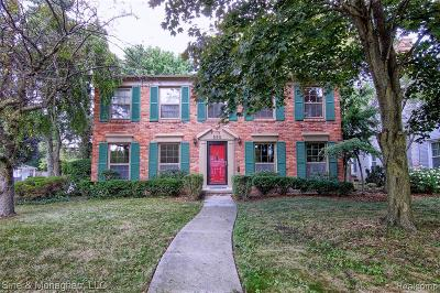 Grosse Pointe Single Family Home For Sale: 550 Lakeland Street