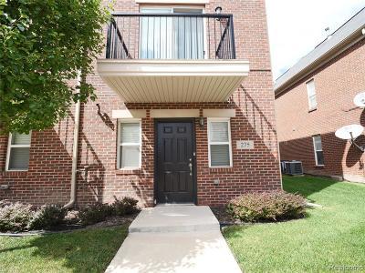 Detroit Condo/Townhouse For Sale: 275 E Palmer Street