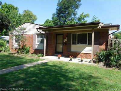 Livonia Single Family Home For Sale: 38432 Grandon Street