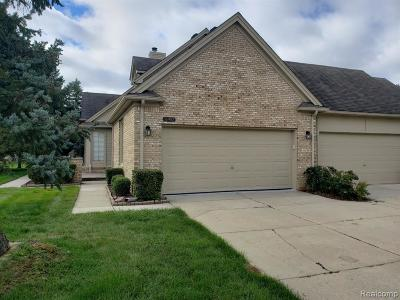 Macomb Twp Condo/Townhouse For Sale: 16987 Crystal Drive