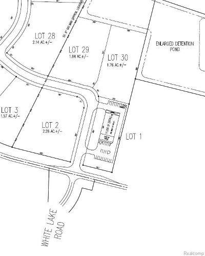 Oakland County Commercial Lots & Land For Sale: Lot 1 Andersonville Road