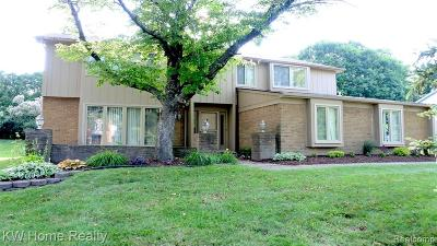 Farmington Hills Single Family Home For Sale: 30725 Turtle Creek