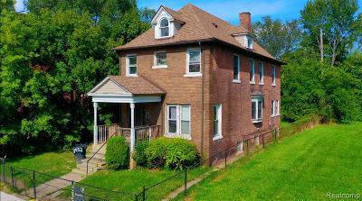 Detroit Single Family Home For Sale: 3952 Trumbull Street