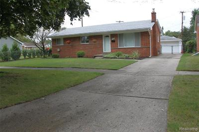 Livonia Single Family Home For Sale: 14803 Hubbard Street