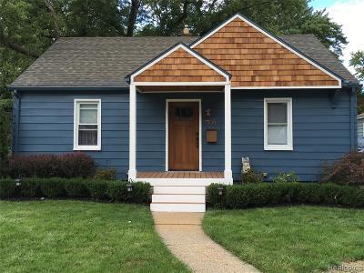 Royal Oak, Royal Oak Twp Single Family Home For Sale: 1006 Woodsboro Drive