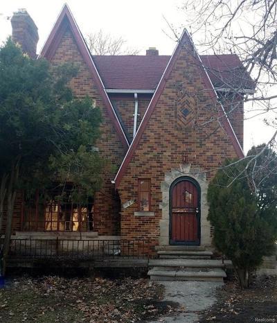 Detroit Single Family Home For Sale: 17419 Roselawn Street