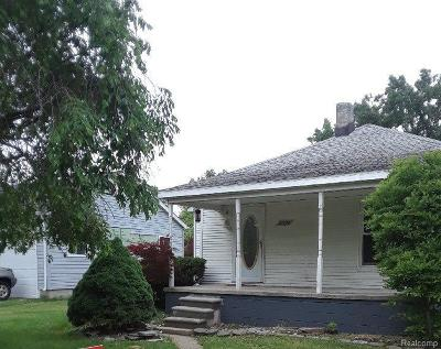 Rockwood MI Single Family Home For Sale: $95,000