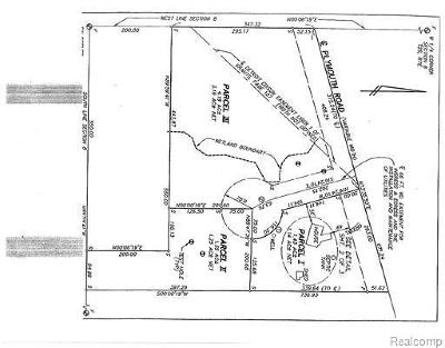 Superior, Superior Twp Residential Lots & Land For Sale: Plymouth Road