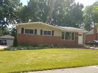 Ann Arbor Single Family Home For Sale: 754 Archwood Drive