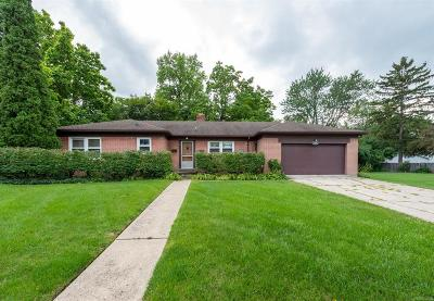 Ann Arbor Single Family Home For Sale: 1808 Cayuga Place