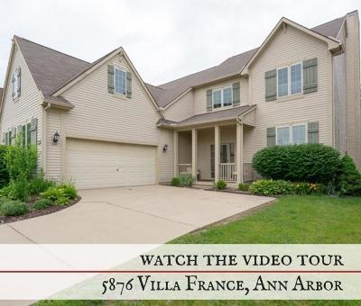 Ann Arbor, Scio, Ann Arbor-scio, Scio, Scio Township, Scio Twp Single Family Home For Sale: 5876 Villa France Avenue