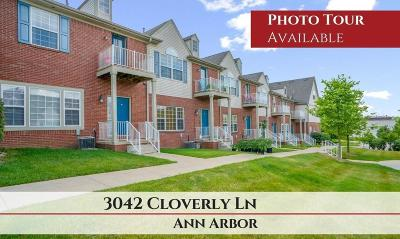 Ann Arbor Condo/Townhouse For Sale: 3042 Cloverly Lane