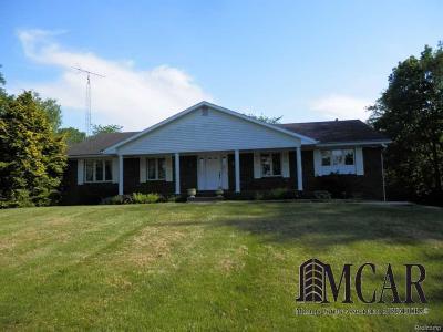 Monroe Single Family Home For Sale: 10933 N Custer Rd