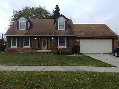 Brownstown Twp, Flat Rock Single Family Home For Sale: 24960 Alicia