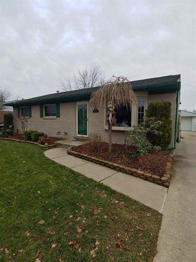 Brownstown Twp MI Single Family Home For Sale: $185,000