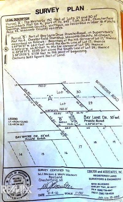 Chesterfield Twp Residential Lots & Land For Sale: Bay St
