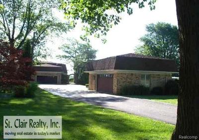 East China Twp Single Family Home For Sale: 4129 S River