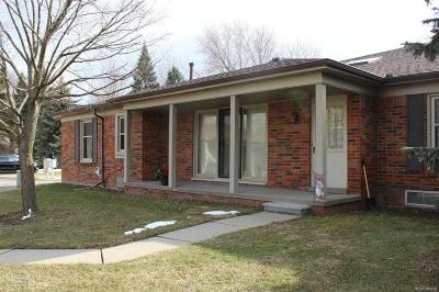 Shelby Twp MI Condo/Townhouse For Sale: $157,500
