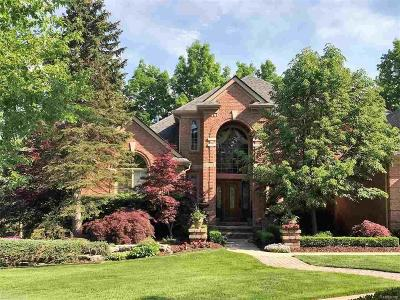 Macomb County, Oakland County Single Family Home For Sale: 4896 Brookside Ln