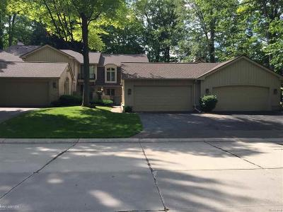 Bloomfield Twp Condo/Townhouse For Sale: 1243 S Timberview Trail #Bldg D,