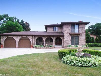 Clinton Twp Single Family Home For Sale: 38945 Santa Barbara