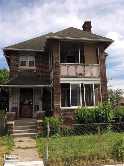 Detroit Single Family Home For Sale: Pingree
