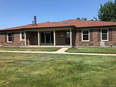 Shelby Twp MI Condo/Townhouse For Sale: $169,900