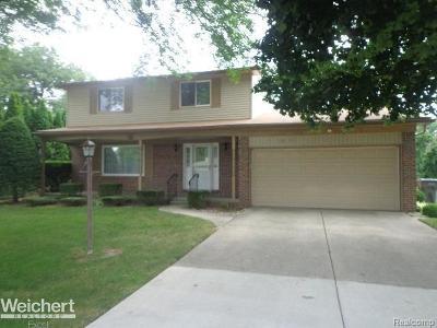 Clinton Twp Single Family Home For Sale: 38110 John P
