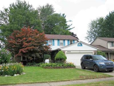 Macomb Twp Single Family Home For Sale: 47624 Valley Forge