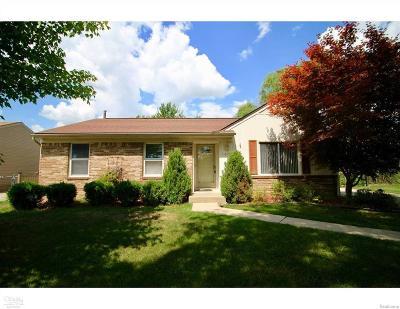 Macomb Twp Single Family Home For Sale: 16395 Sudbury