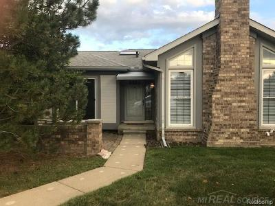 Shelby Twp Condo/Townhouse For Sale: 14710 Holly Ct