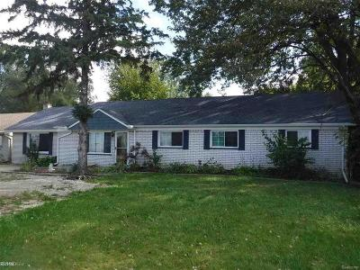 Macomb County Single Family Home For Sale: 37944 S Groesbeck