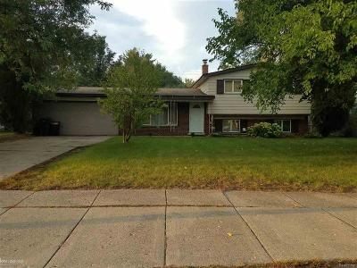 Oakland County Single Family Home For Sale: 5904 Pontiac Lake Rd