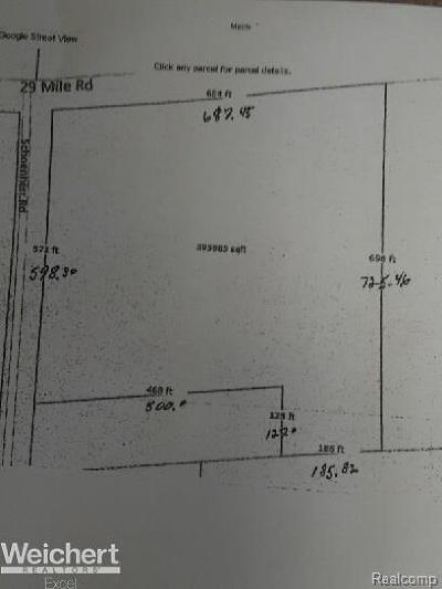 Washington Twp Residential Lots & Land For Sale: 13620 29 Mile