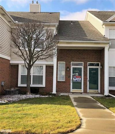 Macomb Twp Condo/Townhouse For Sale: 46236 Cavalier